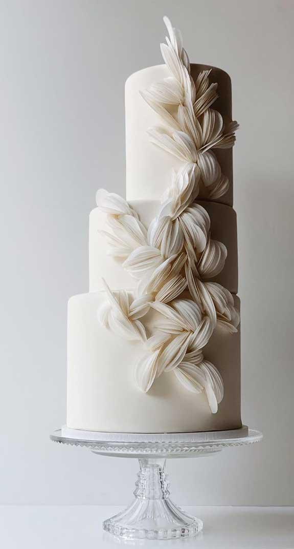 beautiful wedding cake 2020, unique wedding cake designs, wedding cake designs 2020, best wedding cake designs, wedding cake designs, textured wedding cakes, wedding cake trends #weddingcakes wedding cake wafer paper