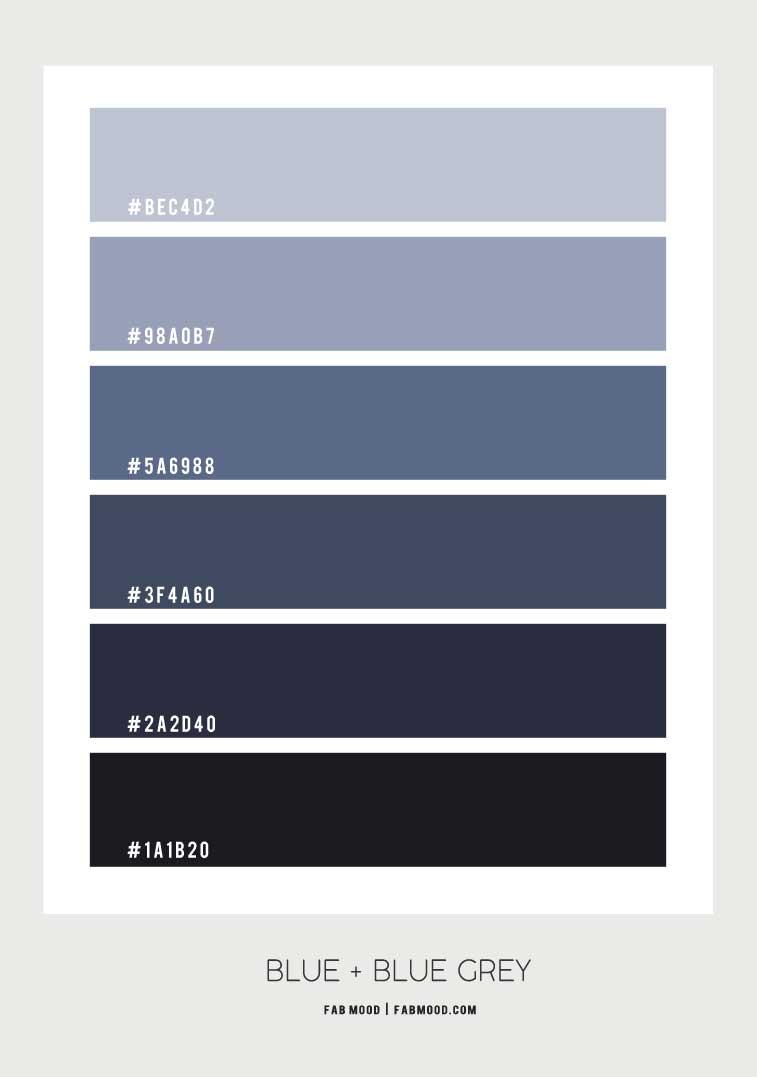 dusty blue and dark blue color scheme, blue color palette, blue color scheme