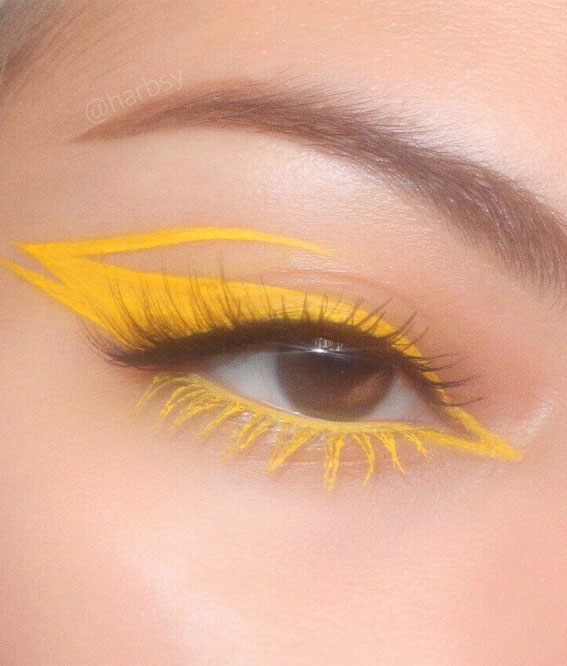 These Eye Makeup Looks Will Give Your Eyes Some Serious Pop Pretty In Yellow