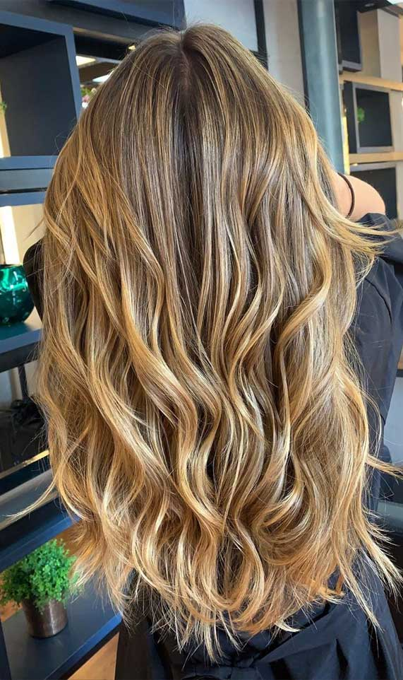 brown hair color, brown hair color, balayage hair blonde, subtle blonde balayage, blonde balayage on dark hair, light blonde balayage, warm brown balayage #brownhair #balayagehairblonde hair color ideas, hair color trends 2020