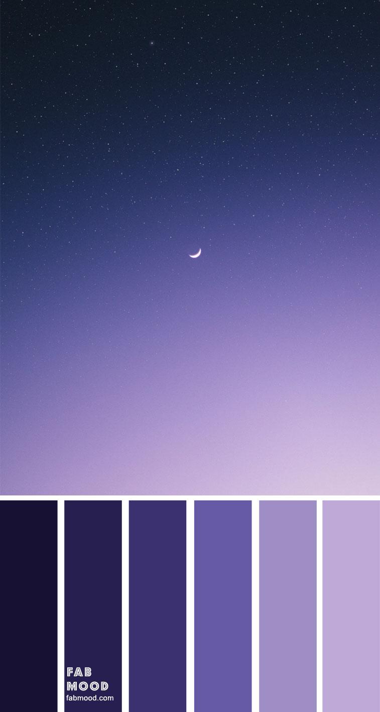 Ombre indigo color palette