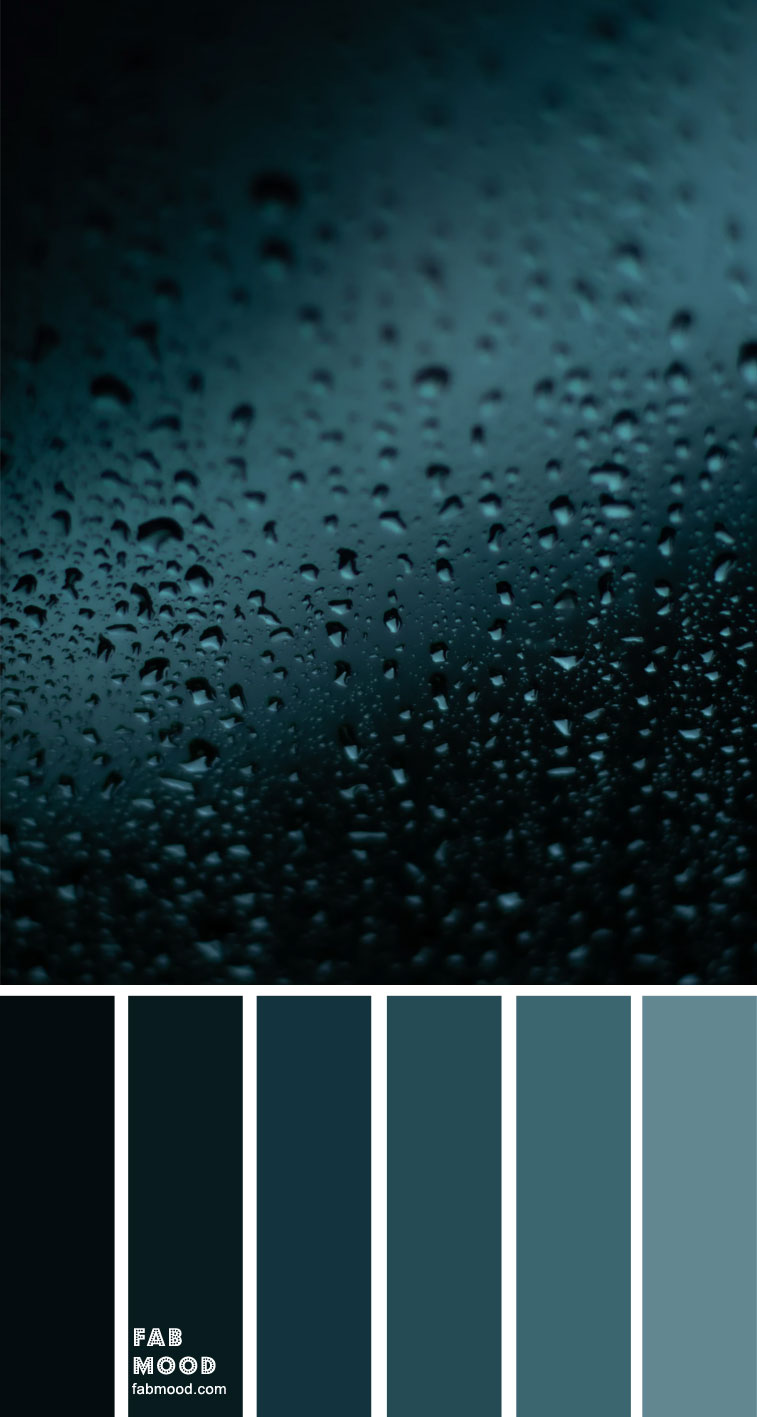 Ombre Teal Color Palette