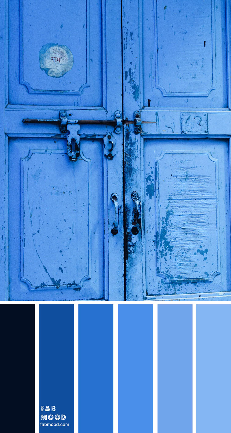 Shades of blue color palette { Sapphire Blue }