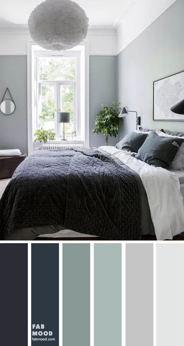 Blueberry and sage bedroom color