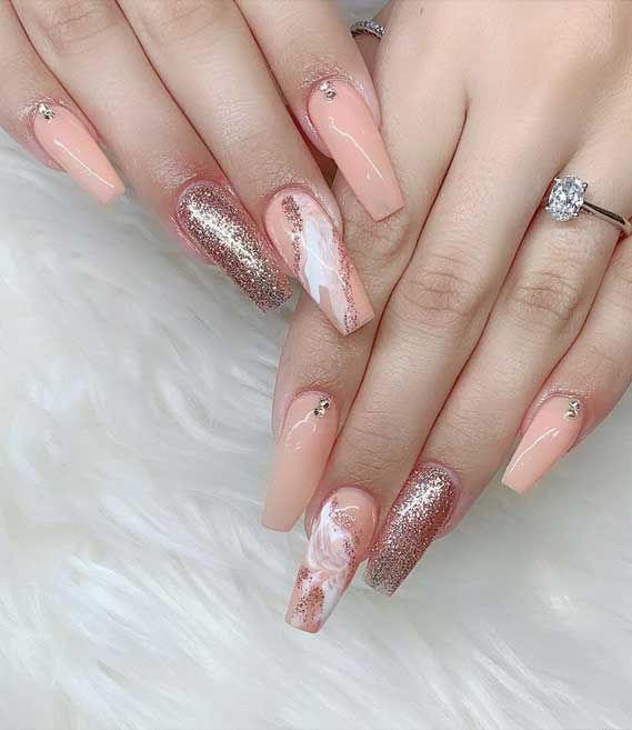 Marble Nail Art Designs To Try This Spring & Summer