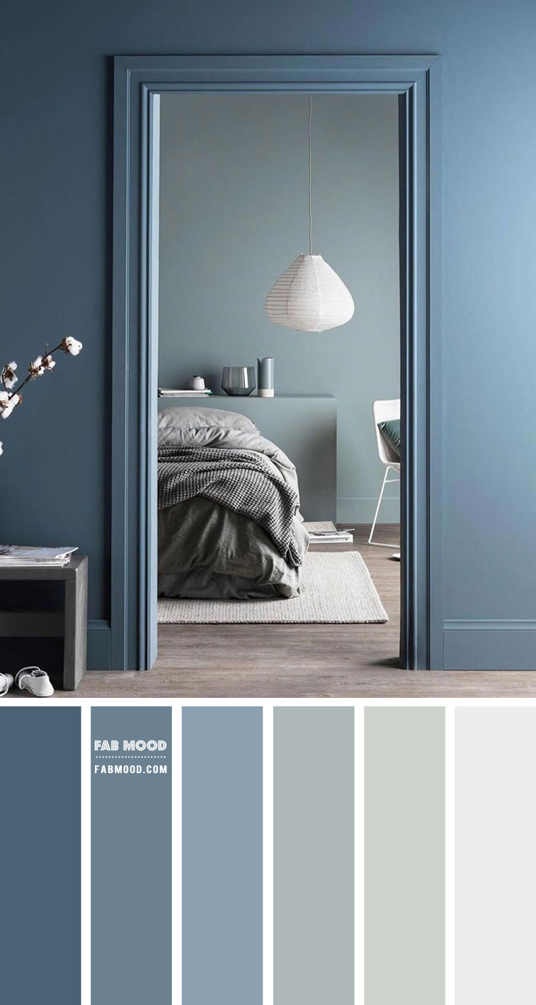 Duck Blue and Sage Color Palette for Bedroom