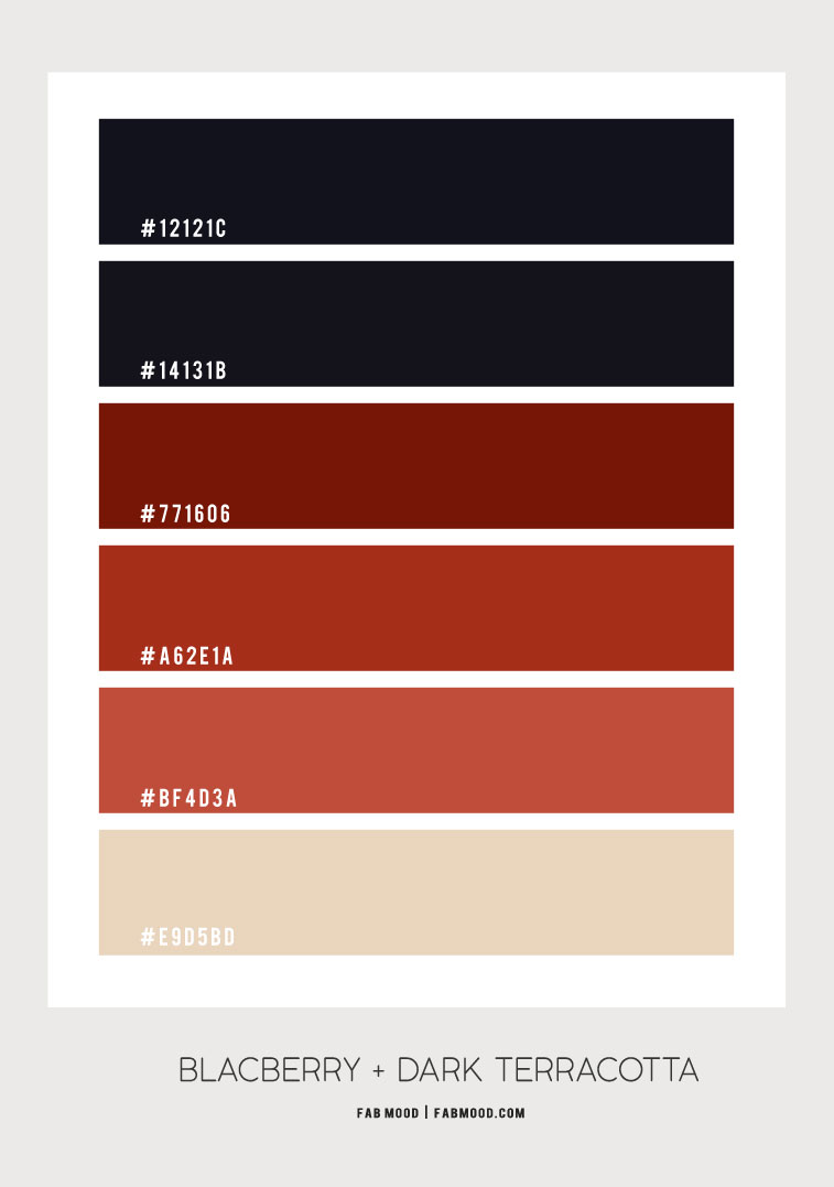 black and terracotta color combos, black and rust color palette, earth tones color palette #earthtones terracotta color combos