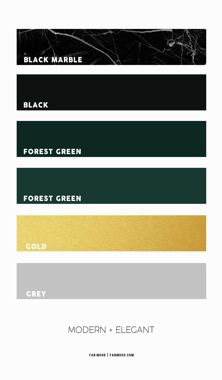black marble forest green and gold color combos, black and forest green color schemes, black and gold color schemes, forest green and black color, green forest and gold color palette
