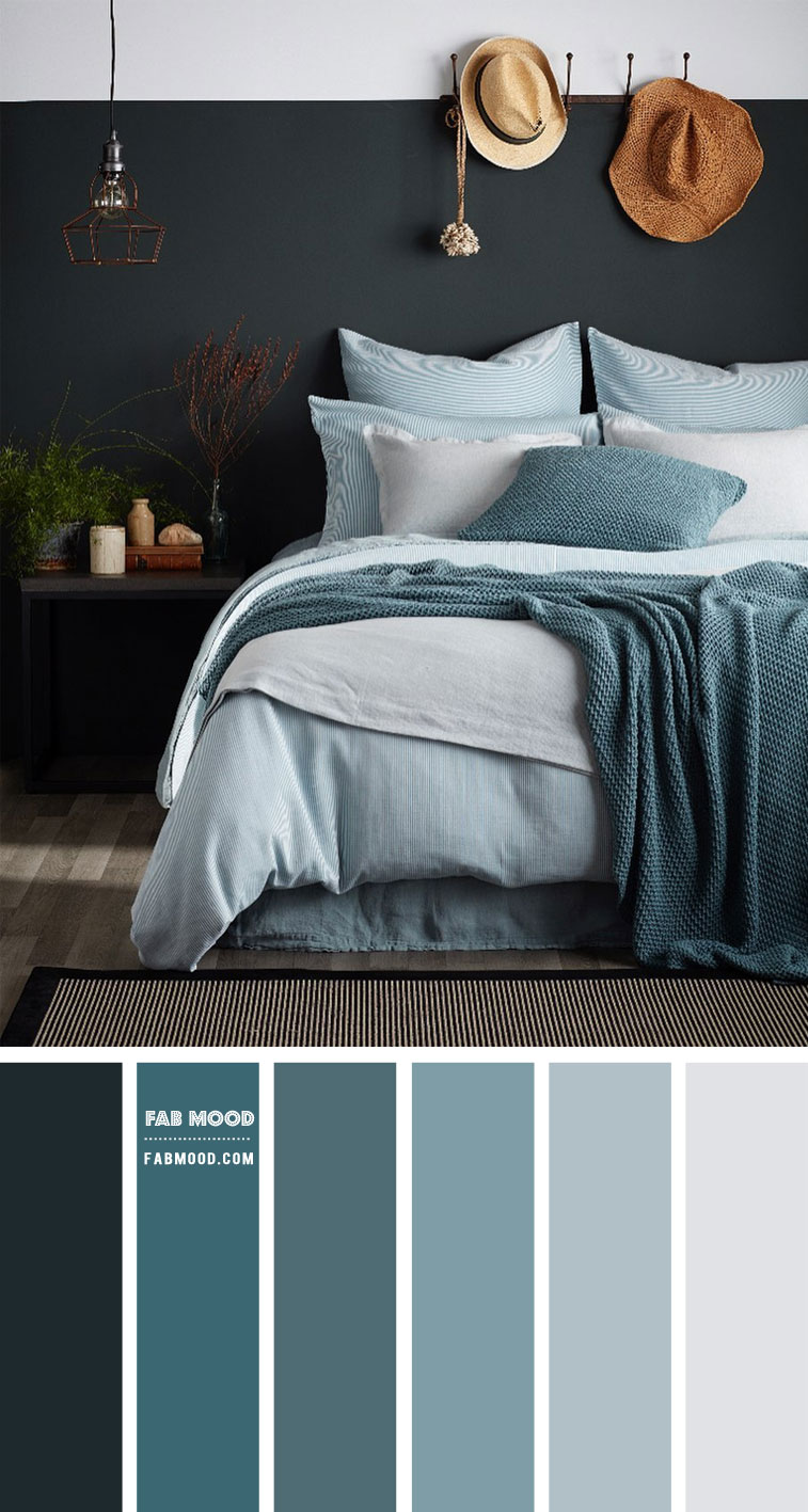 Charcoal Dusty Blue And Teal Bedroom Color Combos
