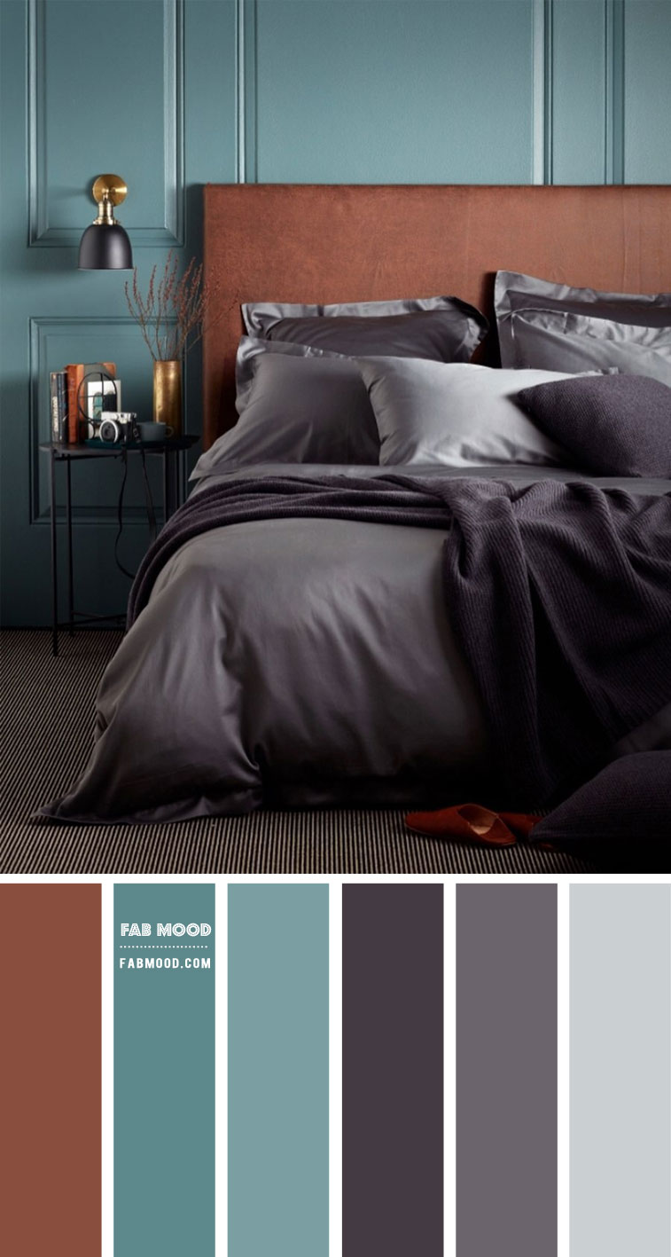 brown charcoal and sage color palette, brown and sage color combos, brown and charcoal color scheme, color palette, color scheme, earth tone bedroom