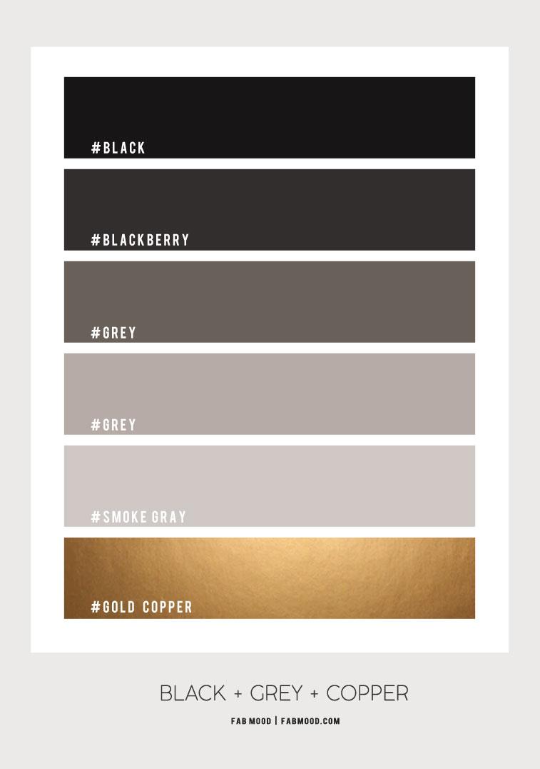 black copper and grey bathroom color , copper and grey color scheme, grey and copper color palette, copper color scheme