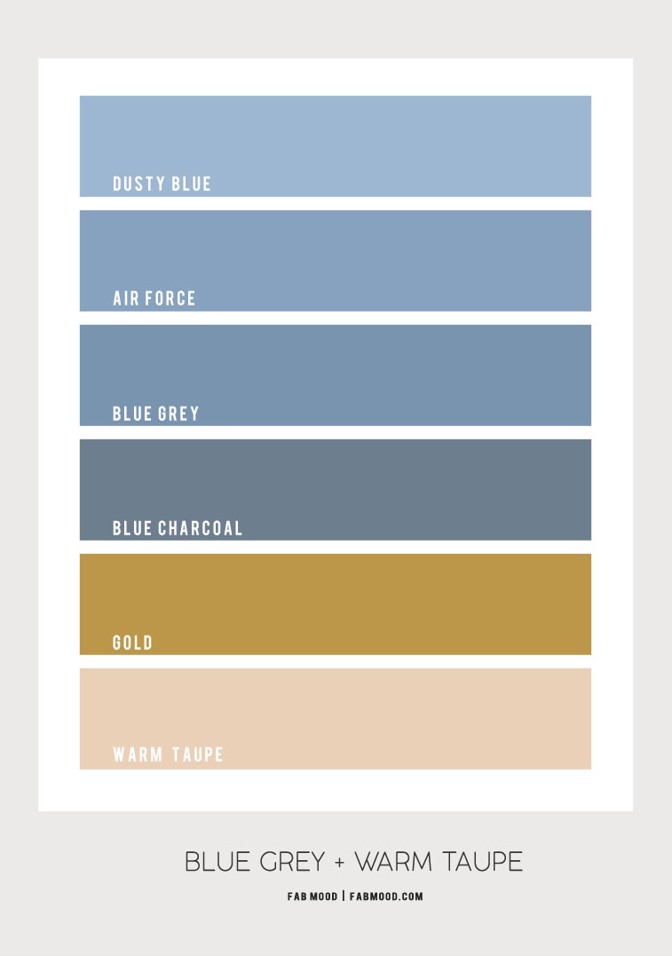 blue grey color combo, blue grey air force and warm taupe color palette, color combination