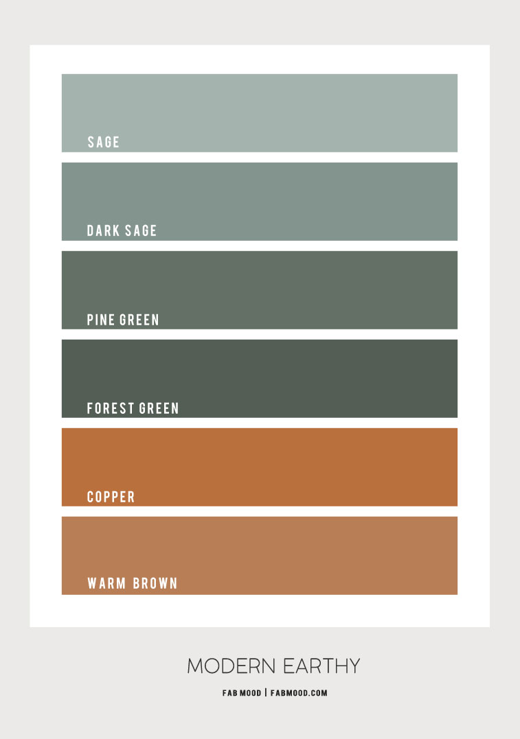 green and copper color palette, color combos, color scheme, copper and green color combination, earthy color palette