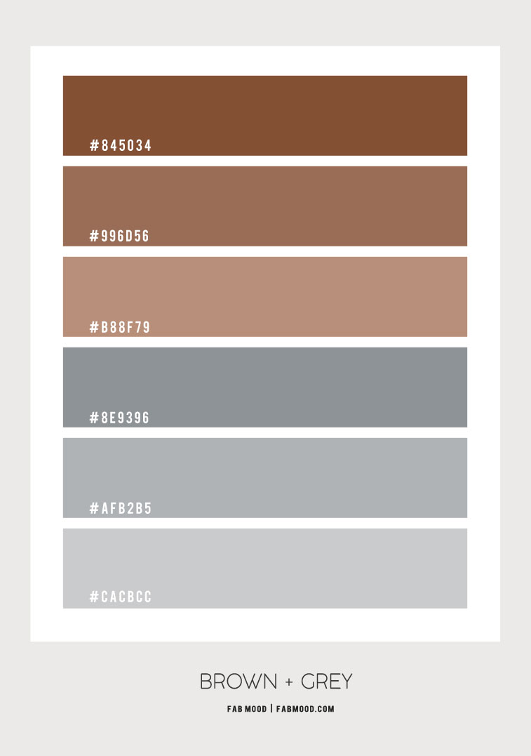 brown and grey color palette, brown and grey color combos, brown and grey color scheme
