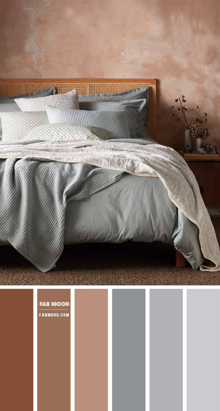 earth tone bedroom , earth tone color bedroom, brown and dusty blue color