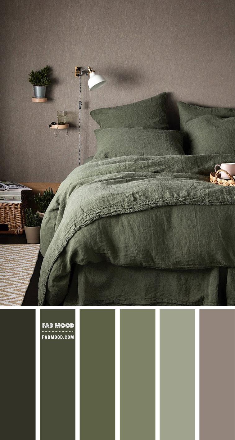 Olive green bedroom color scheme