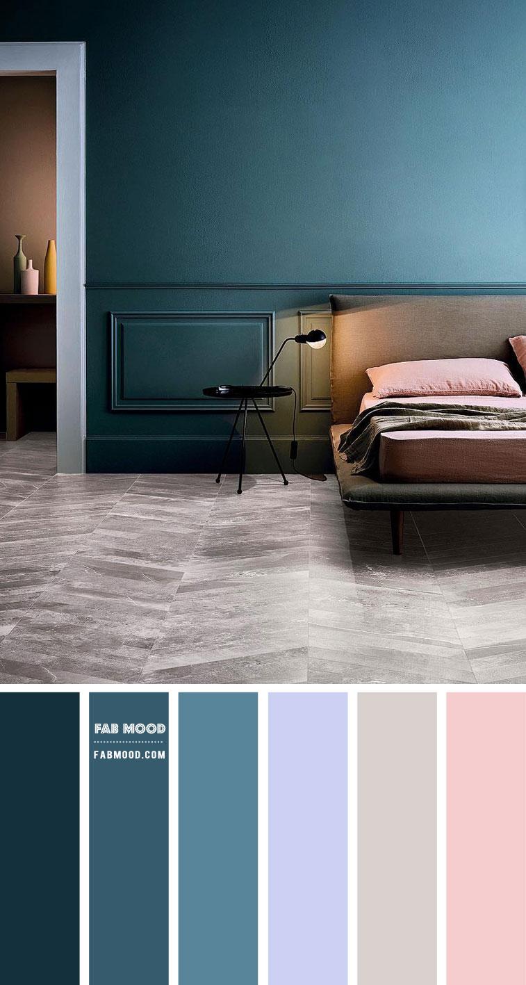 Blue Teal Bedroom Color Scheme Grey Pink And