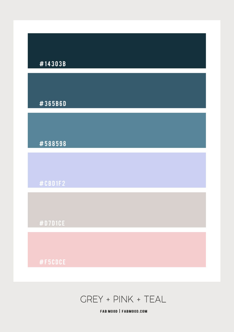 teal and pink color scheme, grey pink teal color combo, teal and pink color palette