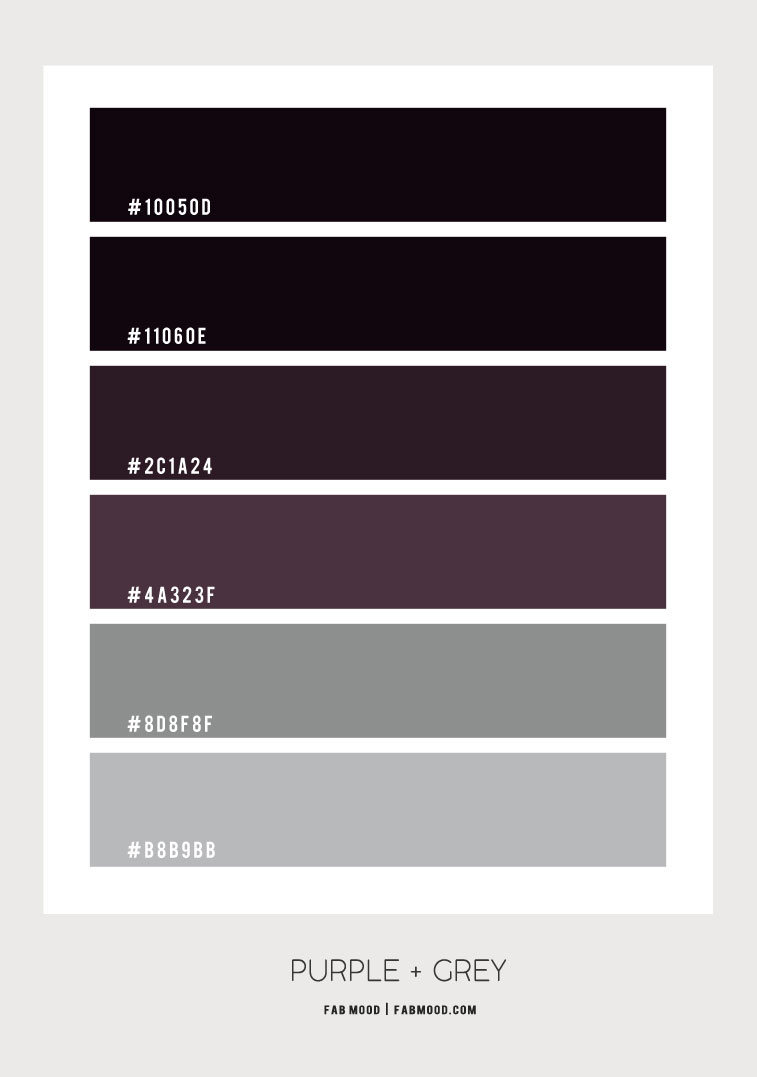 grey and purple color scheme, grey and purple color combos, grey and purple color , ombre purple and grey color palette
