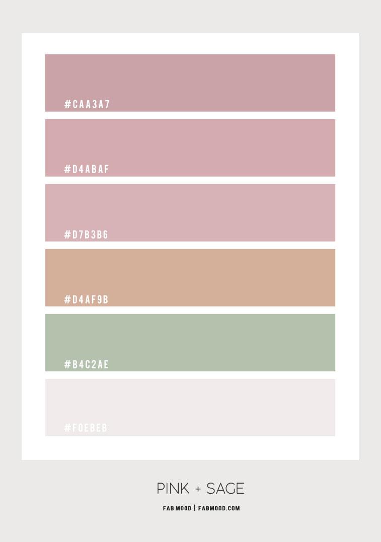 mauve pink color, mauve pink and sage color scheme, mauve and green color combo