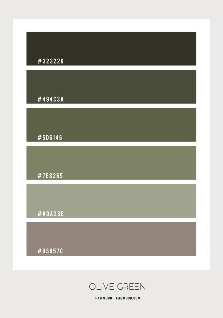 Olive Green Color Scheme Fabmood Wedding Colors Wedding Themes Wedding Color Palettes