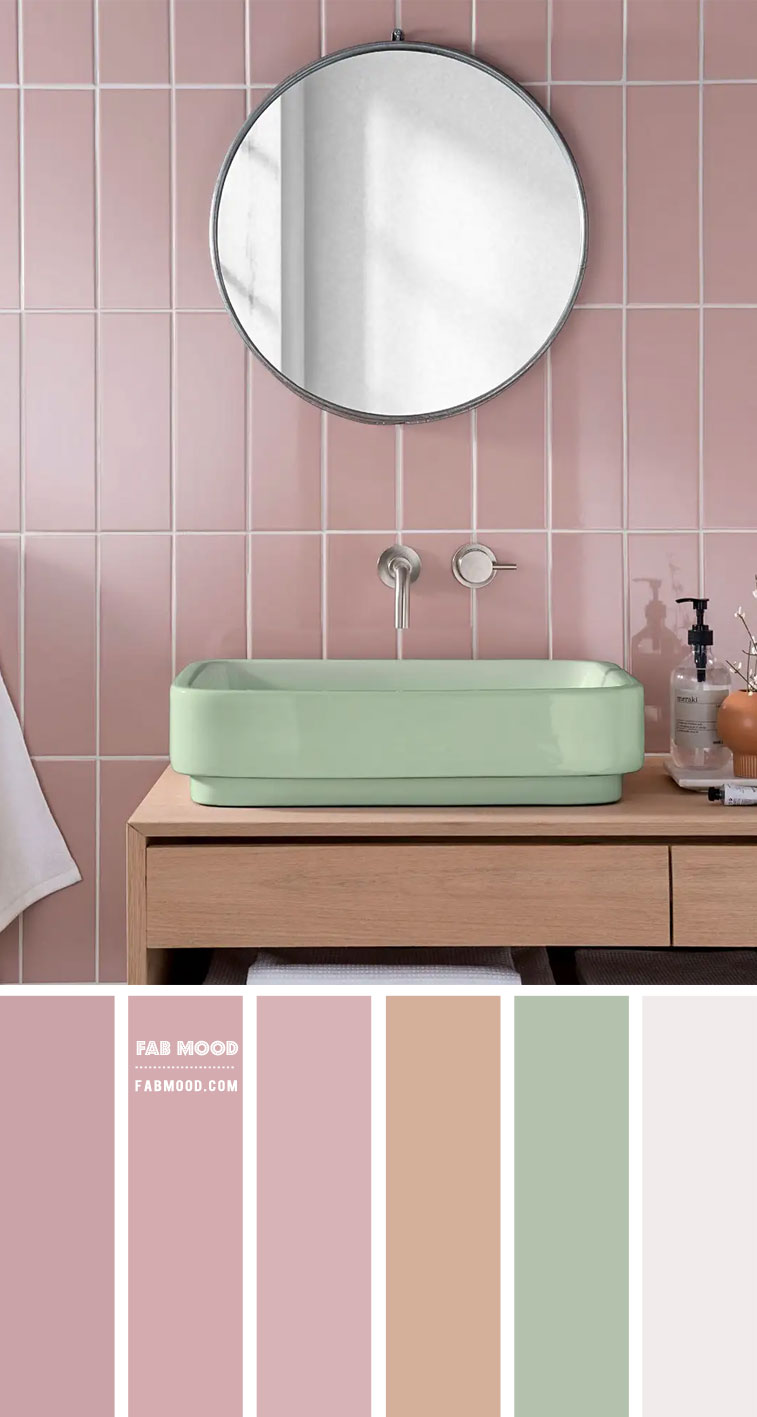 Mauve Pink bathroom color scheme