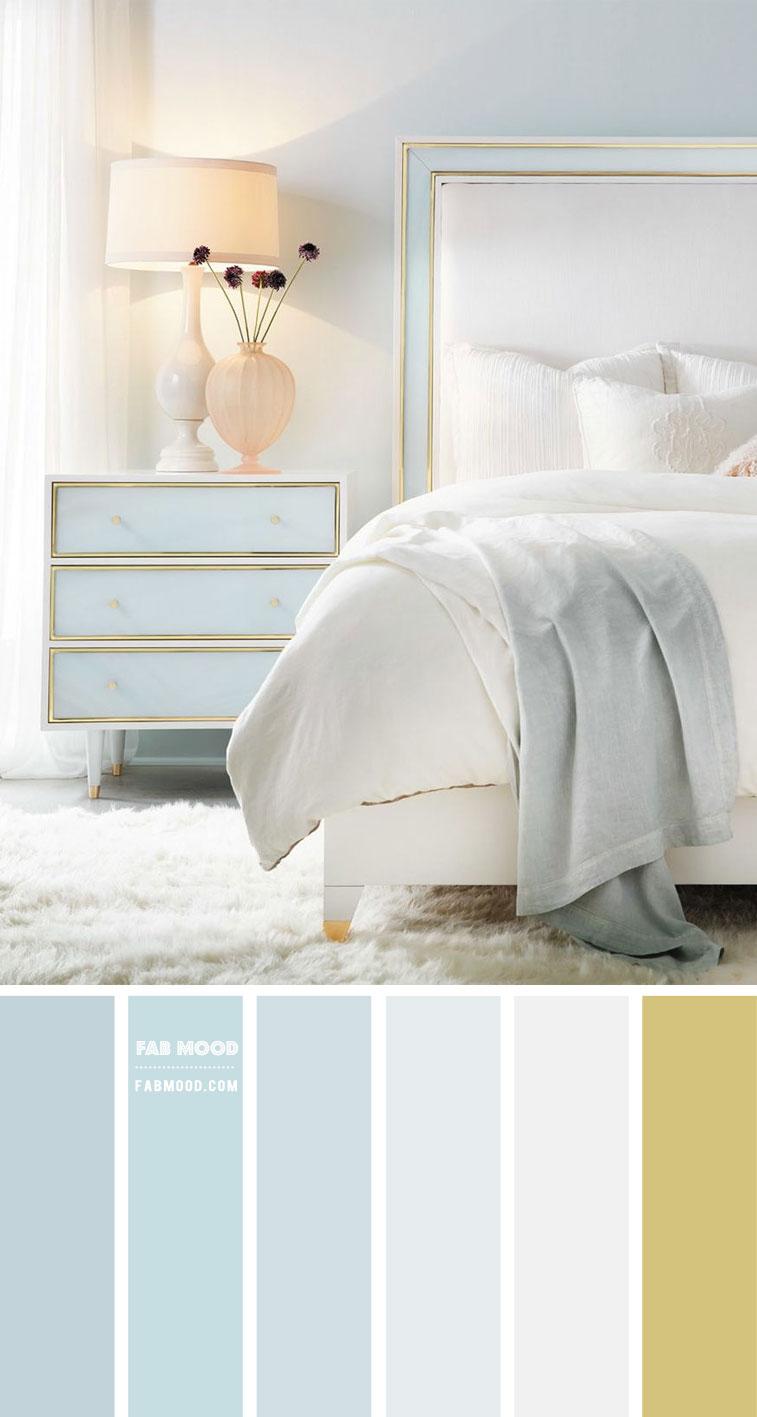 7 Calming Color Palettes for Bedroom – Baby Blue Bedroom Color