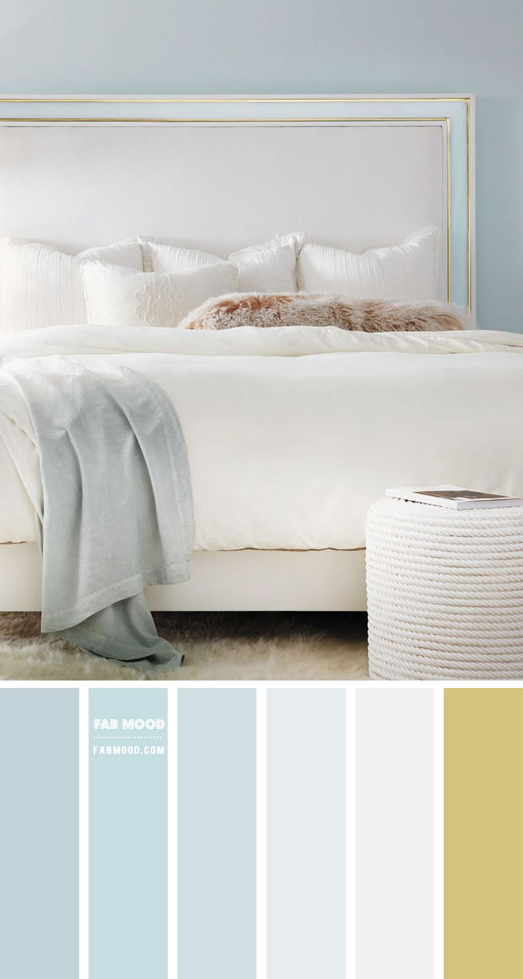 7 Calming Color Palettes For Bedroom Baby Blue And Gold Bedroom