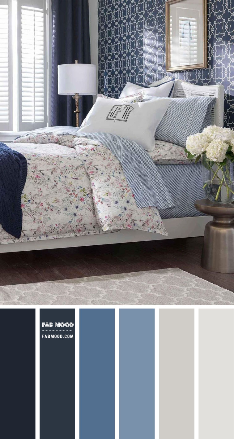 7 Calming Color Palettes for Bedroom – Shades of Blue Bedroom