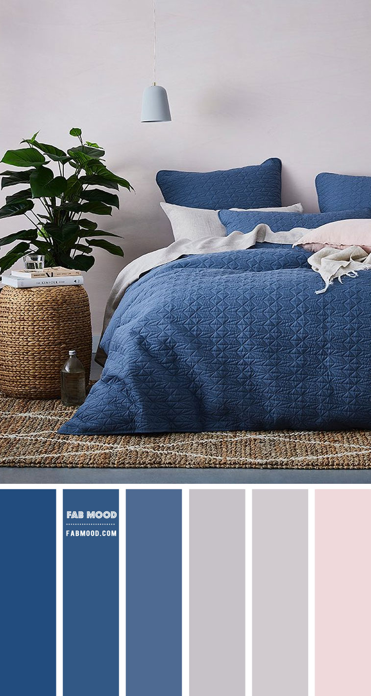 Classic Blue Bedroom Colour Scheme