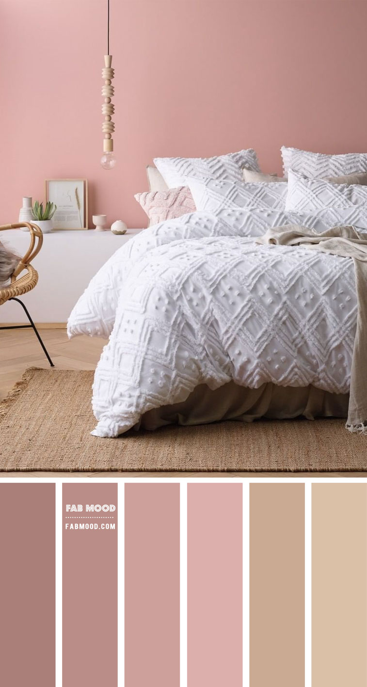 Dusty Rose and Taupe Bedroom Color Scheme