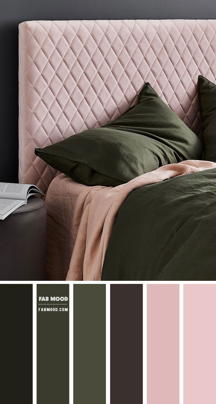 Earth Tone Bedroom { Rifle Green and Dusty Rose }