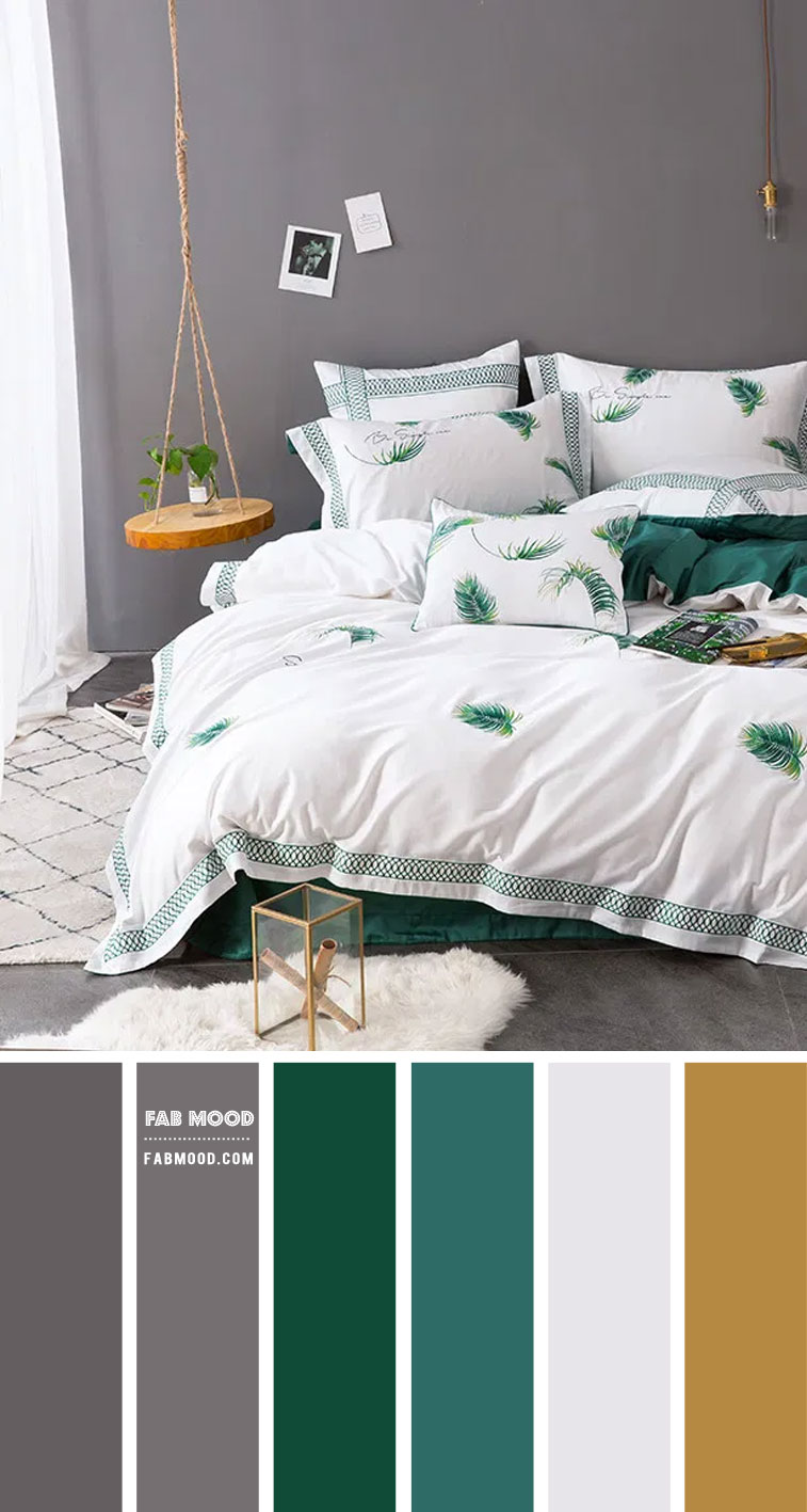 7 Calming Color Palettes for Bedroom – Grey and Green Bedroom
