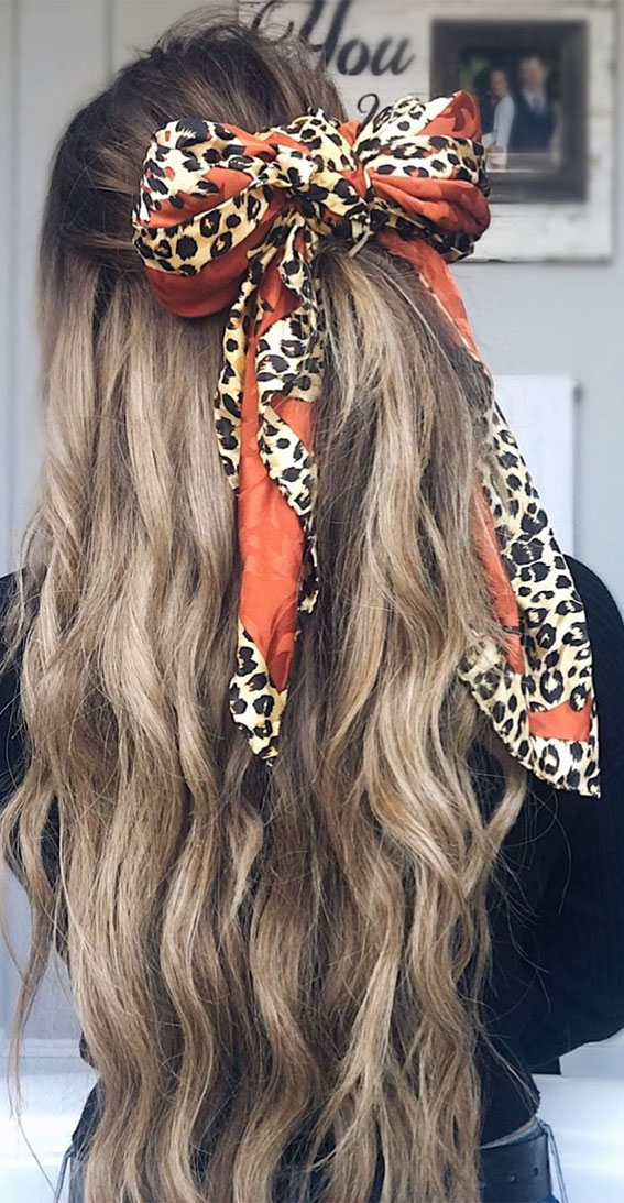39 Pretty Ways Spice Up Your Boring Outfits With Hair Scarves
