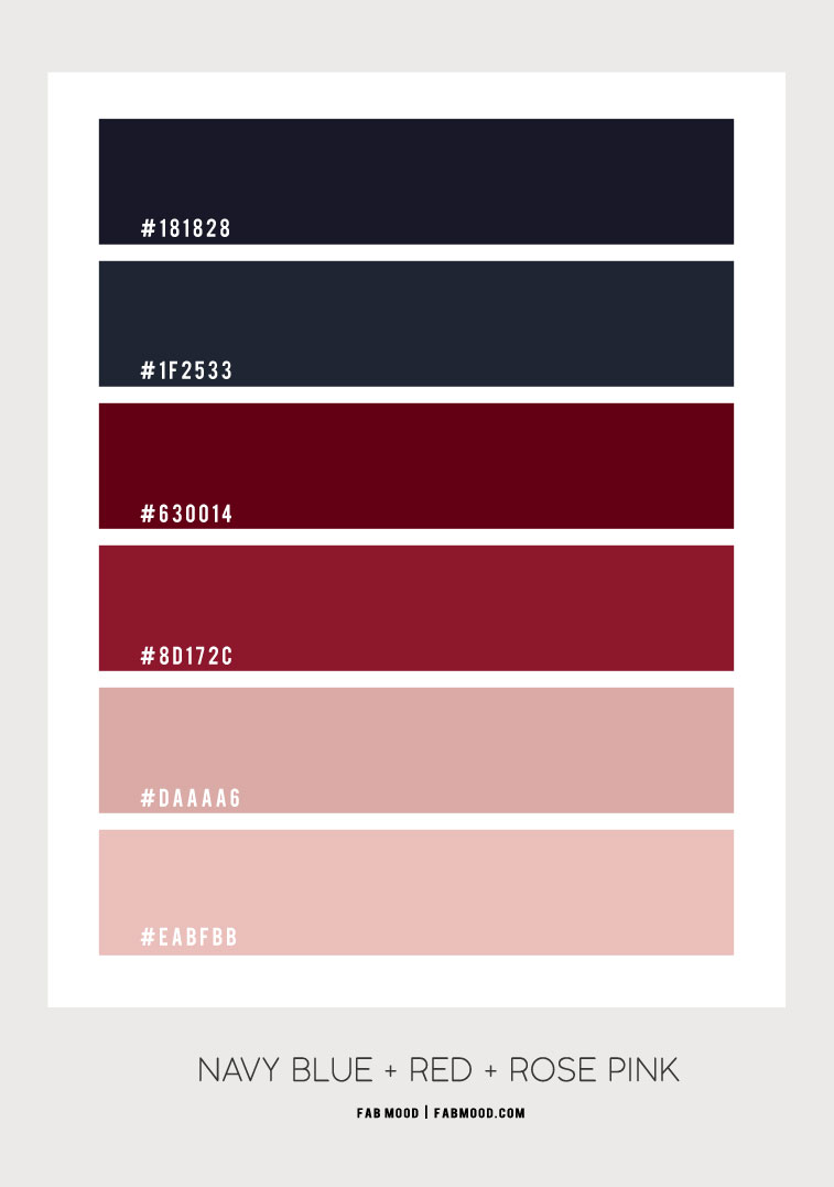 navy blue and rose pink , navy blue and dusty pink color, navy blue and red color scheme, navy blue and dusty pink color scheme, navy blue and pink color combo #colorscheme #dustypink #navybluepink #redblue