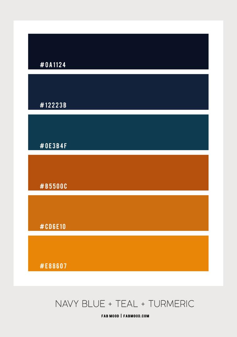 navy blue and turmeric , navy blue and turmeric color, navy blue and mustard, navy blue and turmeric color scheme, navy blue and mustard color combo #colorscheme #turmeric home color #navyblue dark blue and orange