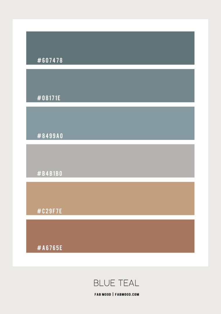 blue teal color scheme, blue teal color combo, blue teal and grey color scheme, earth tone color scheme, earth tone color palette, blue teal and brown color combo, blue teal and grey color combinations