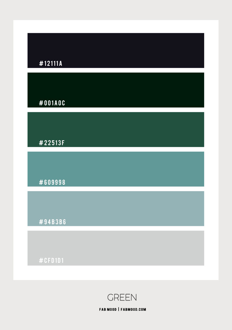 green color scheme, green color combo, green color palette, green and grey color combo, green color combination