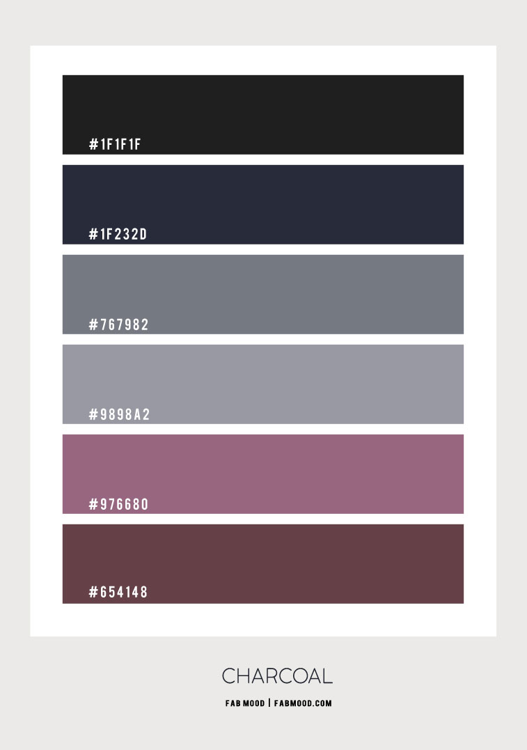 charcoal and grey color scheme, charcoal color combo, charcoal color palette, charcoal color ideas #charcoal , grey color scheme, grey and plum color scheme