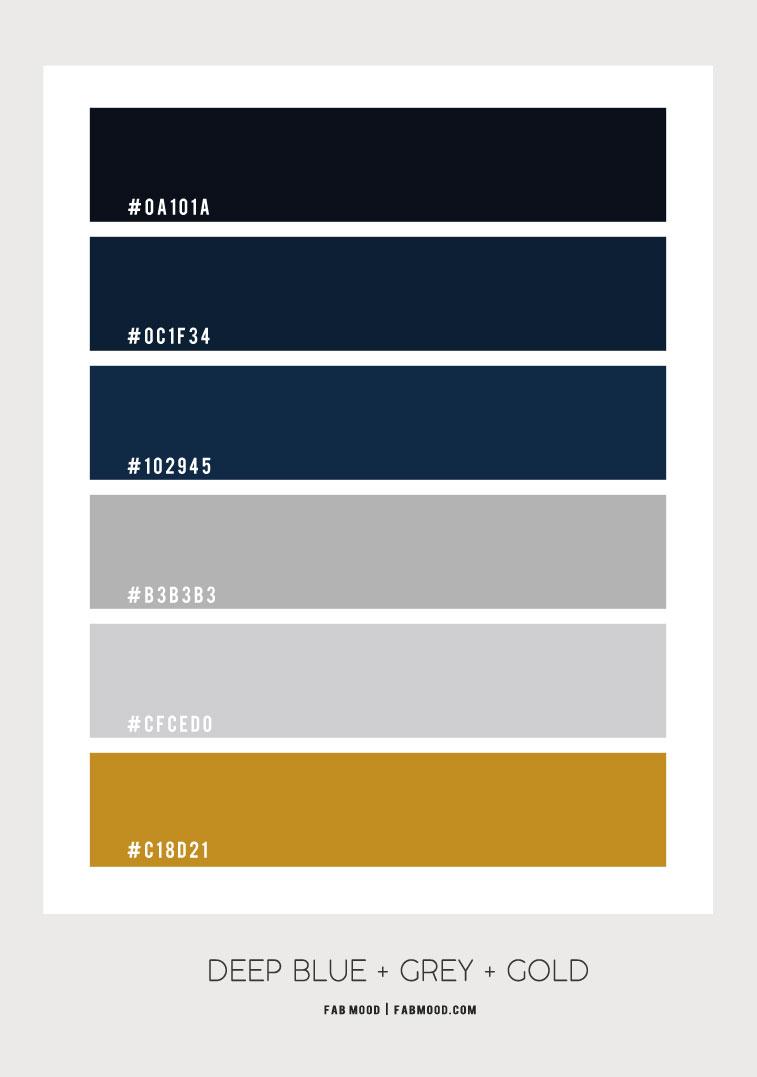deep blue grey and gold color scheme, dark blue and gold color combo, navy blue and gold color scheme, dark blue color scheme, dark blue color palette