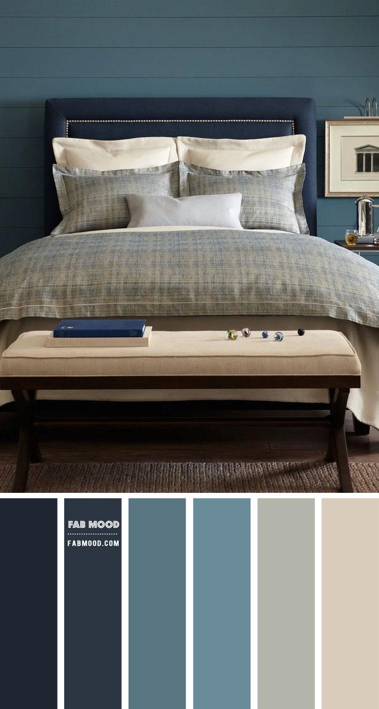 7 Calming Color Palettes for Bedroom – Blue Teal and Navy Blue Bedroom Color