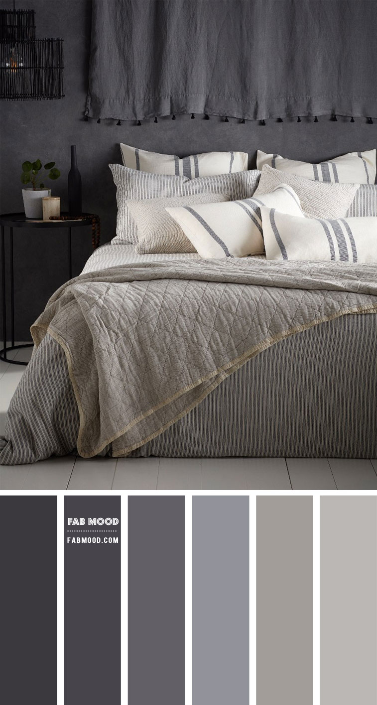 Shades of Grey Bedroom Color Scheme