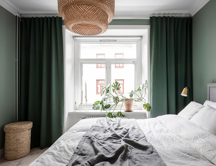 green bedroom, bedroom decor #bedroom
