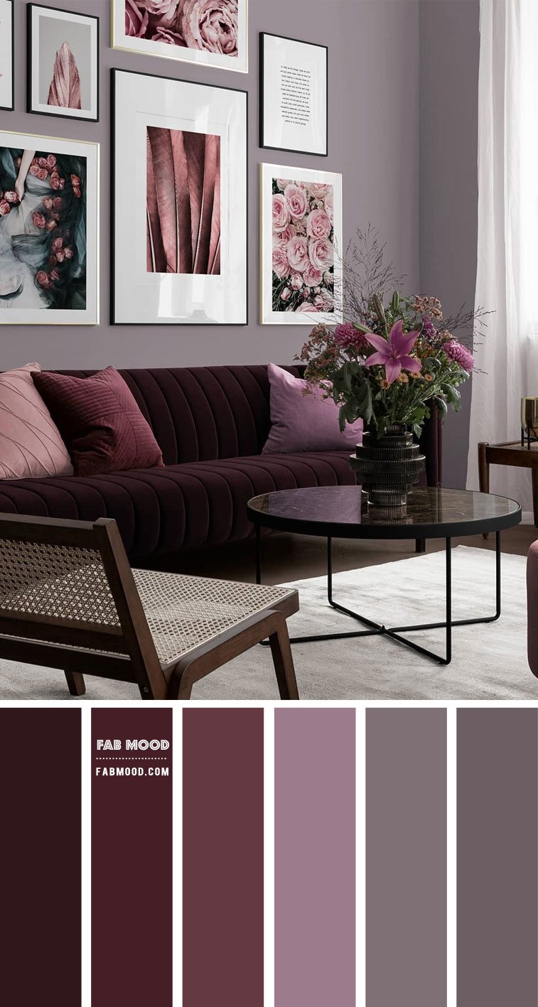 living room in berry, berry living room, berry color scheme, berry home decor, berry living room color, berry color scheme for home, home decor in berry, living room in berry shades