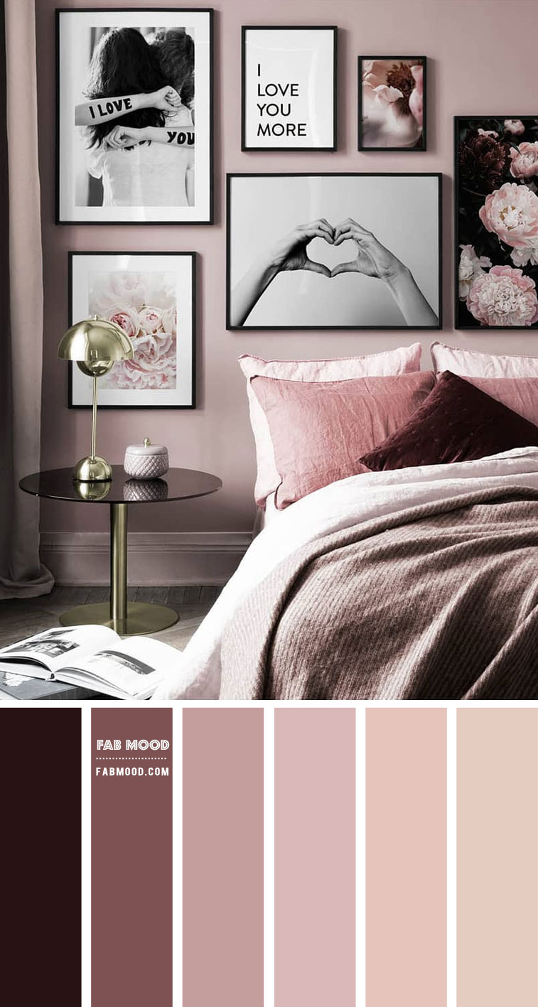 Berry and Mauve Romance Bedroom