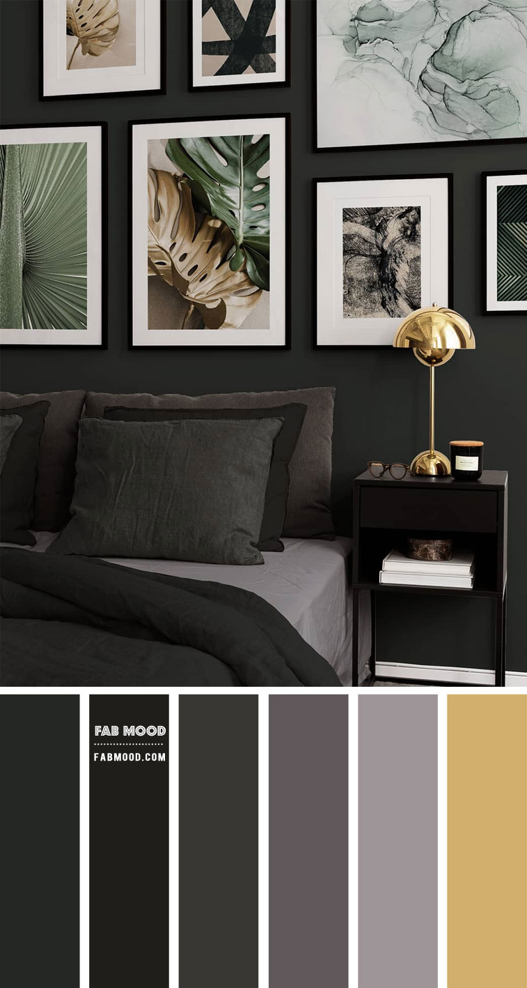 black and gold, black and gold bedroom, black bedroom, black bedroom with gold accents, black and grey color scheme, black bedroom decorating ideas, black bedroom colour scheme, black bedroom color walls, black bedroom ideas