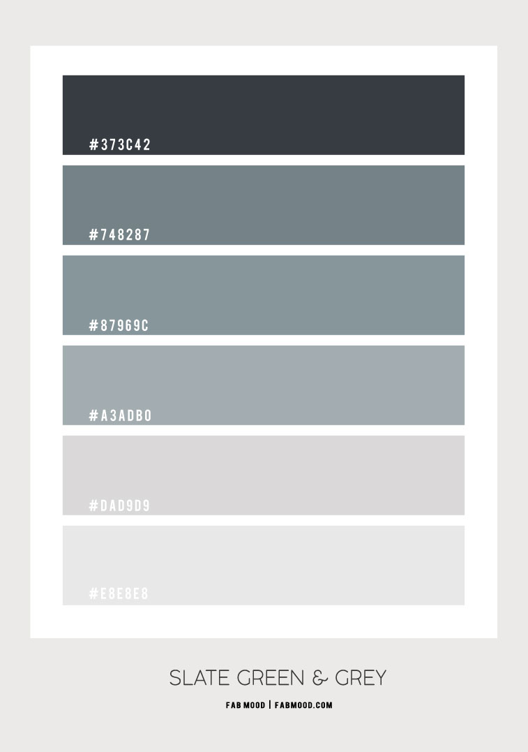 slate green , slate green color, slate green and grey color combo, slate green and grey color scheme, slate green color palette, slate green and grey color combination, color palette #color #slategreen #slategreencolor