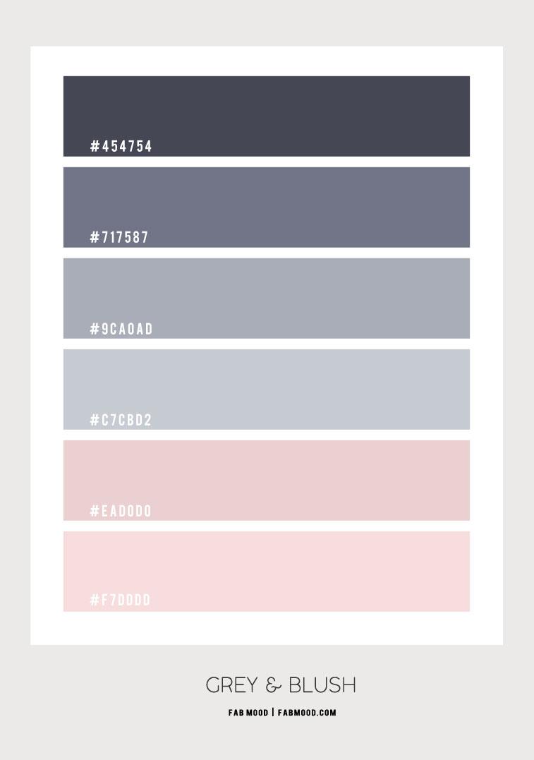 grey and blush, blush and grey, blush and grey color scheme, pink and grey color scheme , blush and grey color palette, blush and grey colour palette