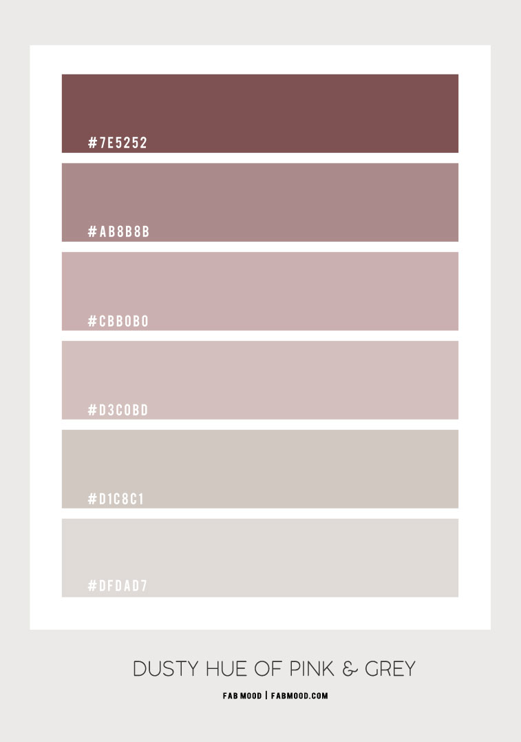 dusty pink ,, mauve hue, dusty rose color, dusty pink color scheme, dusty pink and grey color scheme