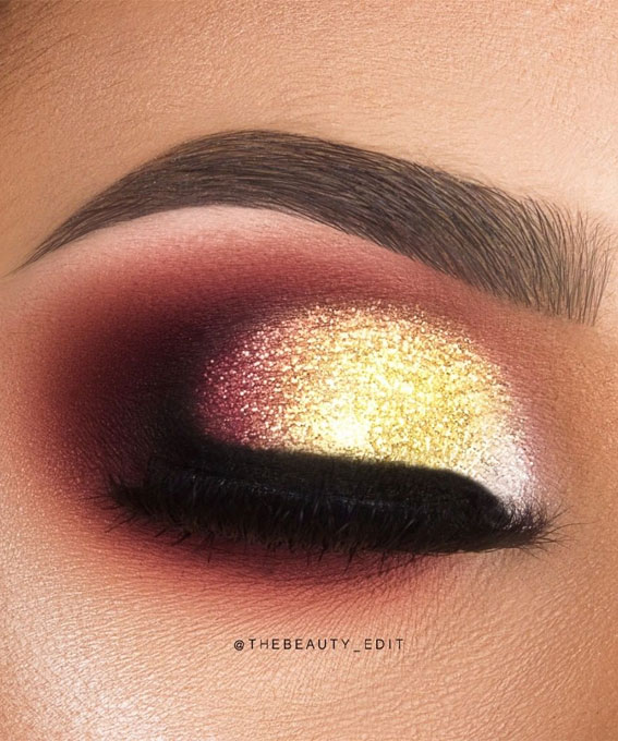 Gorgeous Eyeshadow Looks The Best Eye Makeup Trends – Berry Gold
